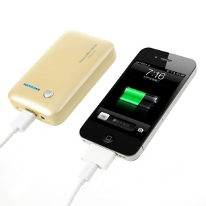 Newonline NE-4S04 7800mAh Mini Power Bank for iPhone iPod Samsung HTC LG Sony etc - Gold