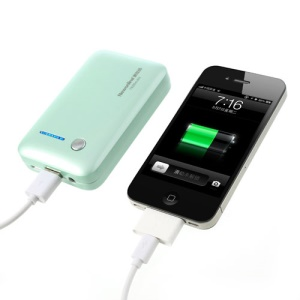 Newonline NE-4S04 7800mAh Mini Power Bank for iPhone iPod Samsung HTC LG Sony etc - Mint Green