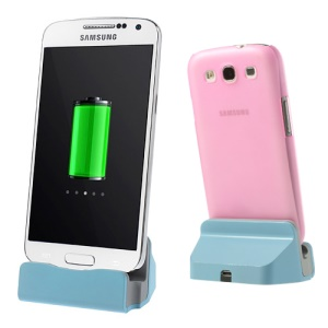 Micro USB Charge & Sync Dock for Samsung Galaxy Note 2 S4 S3 S2 - Blue