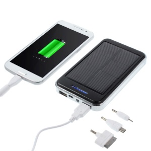 48000mAh Solar Powered Backup Battery Charger for iPhone iPod iPad Smartphones Tablets - Black