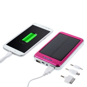 48000mAh Solar Panel Power Charger for iPhone iPod iPad Smartphones Tablets - Rose