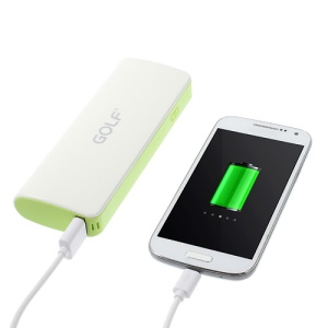 Golf GF-027 Power Bank Battery Charger for iPhone iPod Samsung etc Smartphones 10000mAh - White