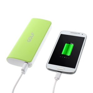 Golf GF-027 Power Bank for iPhone iPod Samsung Sony LG Huawei ZTE 10000mAh - Green