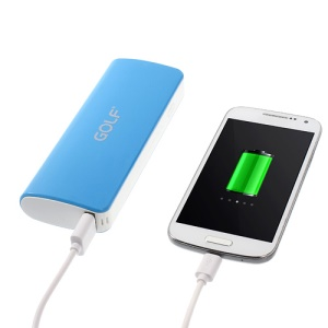 Golf GF-027 Power Bank for iPhone iPod Samsung Sony LG Huawei ZTE 10000mAh - Blue