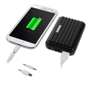 Traveling Case Two-USB 2.1A Power Bank 8800mAh for iPhone iPad Samsung Sony & Tabs & Digital Devices Etc - Black