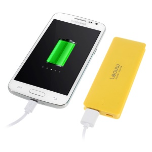 3800mAh Leyou LY-300 Ultrathin External Power Pack for iPhone iPod Samsung Sony LG MP3 MP4 Etc - Yellow