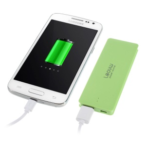 Leyou LY-300 Ultrathin Mobile Power Charger 3800mAh for iPhone iPod Samsung Sony LG MP3 MP4 Etc - Green