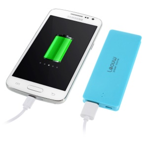 Leyou LY-300 Ultrathin Battery Power Bank 3800mAh for iPhone iPod Samsung Sony LG MP3 MP4 Etc - Blue