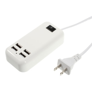 15W 4-Port USB Desktop AC Power Charger Adapter for iPhone iPad Samsung Sony - US Plug