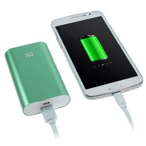 Xiaomi 5200mAh Metal Skin External Power Bank for iPhone Samsung Sony LG HTC Smartphones - Green