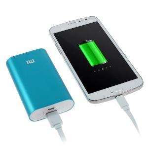 Xiaomi 5200mAh Metal Skin External Power Bank for iPhone Samsung Sony LG HTC Smartphones - Blue