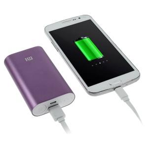 Xiaomi 5200mAh Metal Skin External Power Bank for iPhone Samsung Sony LG HTC Smartphones - Purple