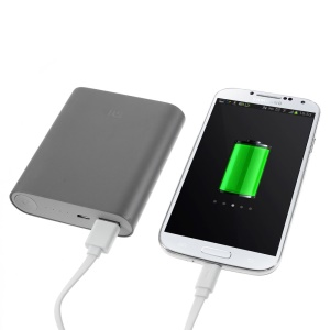Xiaomi 10400mAh Metal Skin Power Bank for iPhone iPad Samsung Sony LG HTC Smartphones - Grey