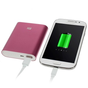 Xiaomi 10400mAh Metal Skin External Power Bank for iPhone iPad Samsung Sony LG HTC Smartphones - Rose