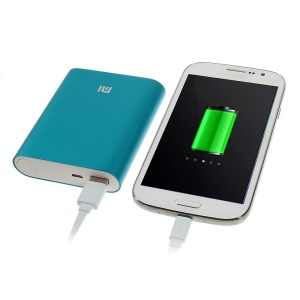 Xiaomi 10400mAh Metal Skin Battery Charger Power Bank for iPhone iPad Samsung Sony LG HTC Smartphones - Blue