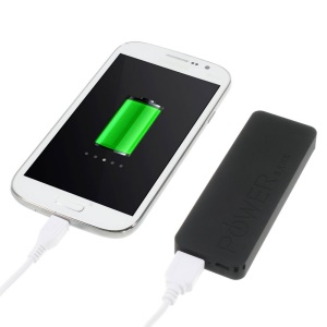 Black 3000mAh Slim External Battery Charger Power Bank for iPhone iPod Samsung Sony LG