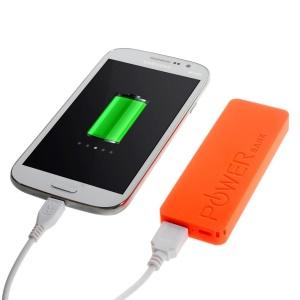 Orange 3000mAh Slim External Power Bank Charger for iPhone iPod Samsung Sony LG