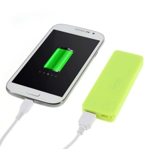 Yellow 3000mAh Slim Battery Power Bank Charger for iPhone iPod Samsung Sony LG