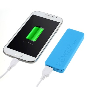 Blue 3000mAh Slim Battery Charger Mobile Power Bank for iPhone iPod Samsung Sony LG
