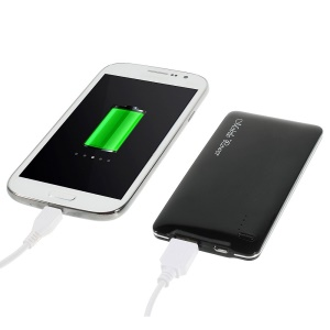Black 5000mAh Slim Power Bank Battery Charger for iPhone iPod Samsung Sony HTC LG