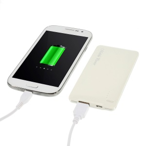 White 5000mAh Slim External Power Bank Battery Charger for iPhone iPod Samsung Sony HTC LG