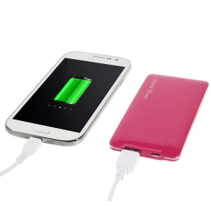 Rose 5000mAh Slim Battery Charger Power Bank for iPhone iPod Samsung Sony HTC LG