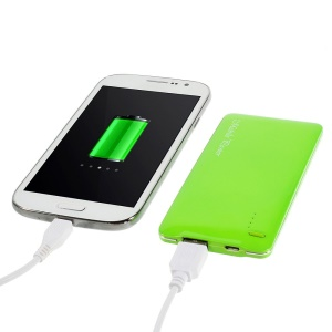 Green 5000mAh Slim Battery Power Bank Charger for iPhone iPod Samsung Sony HTC LG
