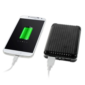 iFans EL-PB-19 11200mAh Dual USB Mobile Power Bank w/ Flashlight for iPhone Samsung HTC Smartphones Tablets- Black