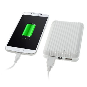 iFans EL-PB-19 11200mAh Dual USB External Power Bank w/ Flashlight for iPhone Samsung HTC Smartphones Tablets- White