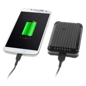 iFans EL-PB-18 5600mAh Mobile Power Bank w/ Flashlight for iPhone Samsung HTC Smartphones Tablets- Black