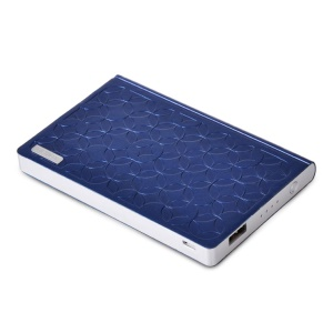 Remax Play Paper Series 6000mAh Embossed Leather Power Bank for iPad iPhone Samsung Sony LG HTC Tablets - Blue