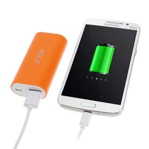 Orange GOLF Tiger 26 5000mAh External Battery Power Bank for iPhone iPod Samsung Sony HTC