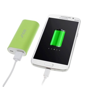 Green GOLF Tiger 26 5000mAh External Battery Power Pack for iPhone iPod Samsung Sony HTC