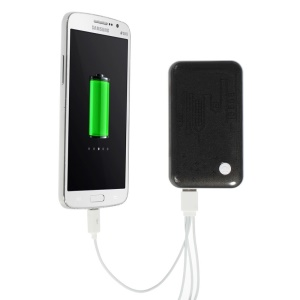 Black 9000mAh Extended Battery Power Pack Dual USB Port w/ LED Flashlight for iPhone iPod Samsung Sony HTC