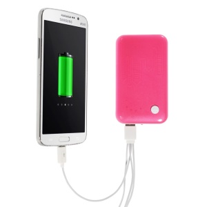 Rose 9000mAh External Battery Power Bank Dual USB Port w/ LED Flashlight for iPhone iPod Samsung Sony HTC