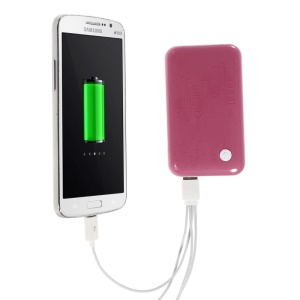 Pink 9000mAh External Battery Power Bank Dual USB Port w/ LED Flashlight for iPhone iPod Samsung Sony HTC