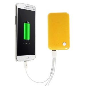 Orange 9000mAh External Battery Power Pack Dual USB Port w/ LED Flashlight for iPhone iPod Samsung Sony HTC
