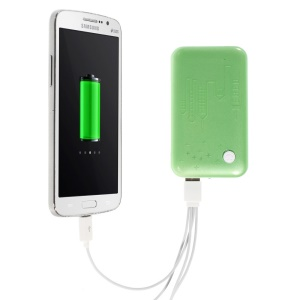 Green 9000mAh External Battery Power Pack Dual USB Port w/ LED Flashlight for iPhone iPod Samsung Sony HTC