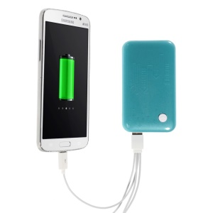 Blue 9000mAh Extended Battery Power Bank Dual USB Port w/ LED Flashlight for iPhone iPod Samsung Sony HTC