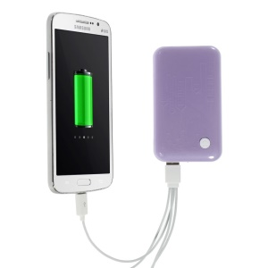 Purple 9000mAh Extended Battery Power Bank Dual USB Port w/ LED Flashlight for iPhone iPod Samsung Sony HTC