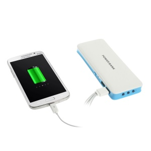 16800mAh Dual USB Mobile Charger Power Pack for iPhone iPad iPod Samsung HTC Nokia - Blue