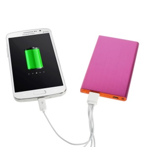Rose 6000mAh Slim Brushed Metal Portable USB Charger Backup Power for iPhone iPod Samsung Sony LG