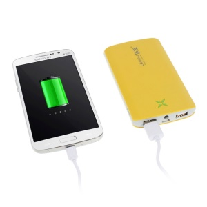 10400mAh Leyou LY-930 External Power Pack Charger for iPhone iPad Samsung Sony HTC LG - Yellow
