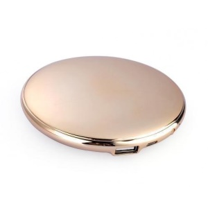 1A Make-up Mirror 7000mAh Emergency Power Charger for iPhone Samsung Sony Huawei Etc Smartphones - Gold