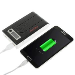 15000mAh FEIYU FY-P12 Dual USB Power Bank Battery Charger for iPad iPhone iPod Samsung Sony HTC - Black