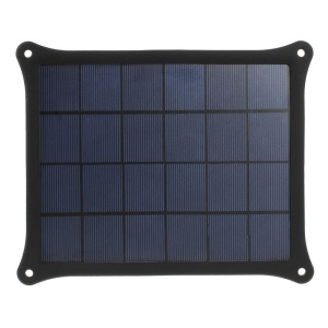 Black 5 Watts 5V 1A Solar Power Panel Charger for iPhone Samsung Sony HTC LG Huawei Etc Smartphones & MP3 MP4
