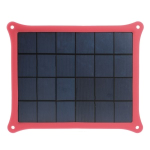 Red 5W 5V 1A Solar Charger Power Panel for iPhone Samsung Sony HTC LG Huawei Etc Smartphones & MP3 MP4