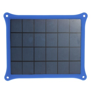 Blue 5W 5V 1A Solar Power Charger Panel for iPhone Samsung Sony HTC LG Huawei Etc Smartphones & MP3 MP4
