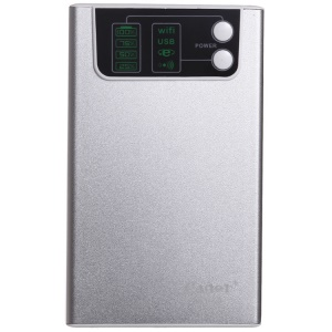 Cager WF30-4 10400mAh Power Bank w/ 3G WiFi Router & Cloud Storage for iPhone iPod Samsung - Silver