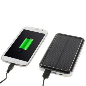16800mAh Solar Panel Power Bank Battery Charger for iPhone iPad Samsung Sony LG HTC - Black